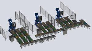 Instalación robot paletizador de cajas de fruta